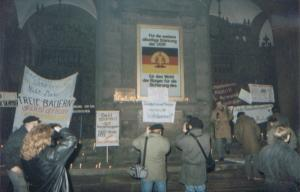 Freedom march in Leipzig, East Germany